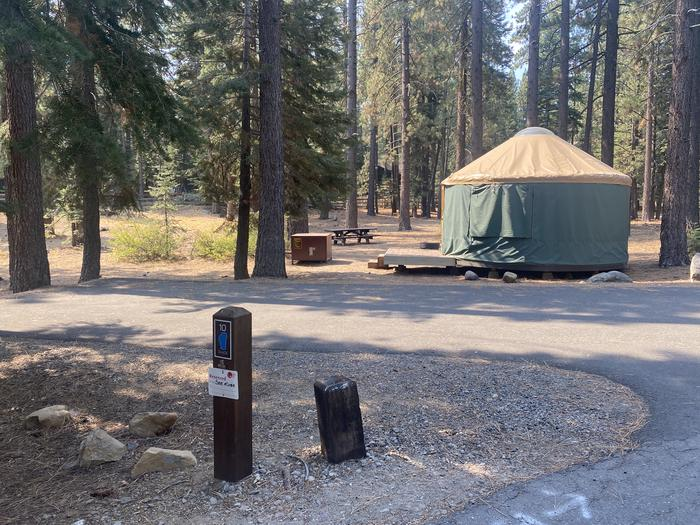 A photo of Site 010 of Loop Yurts at WILLIAM KENT CAMPGROUND with Picnic Table, Fire Pit, Food Storage