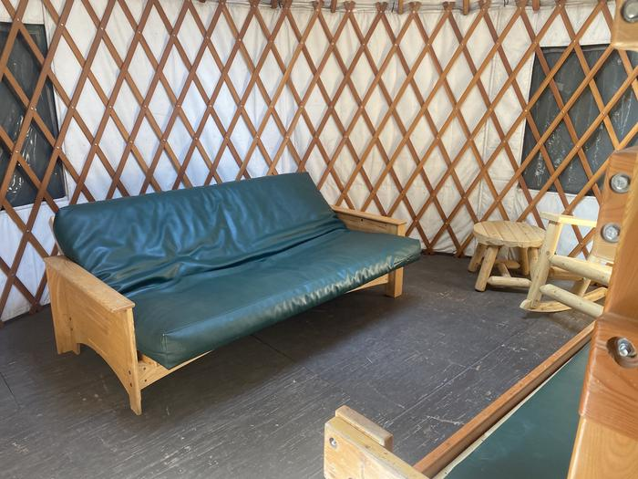 A photo of Site 010 of Loop Yurts at WILLIAM KENT CAMPGROUND with Fire Pit, Food Storage