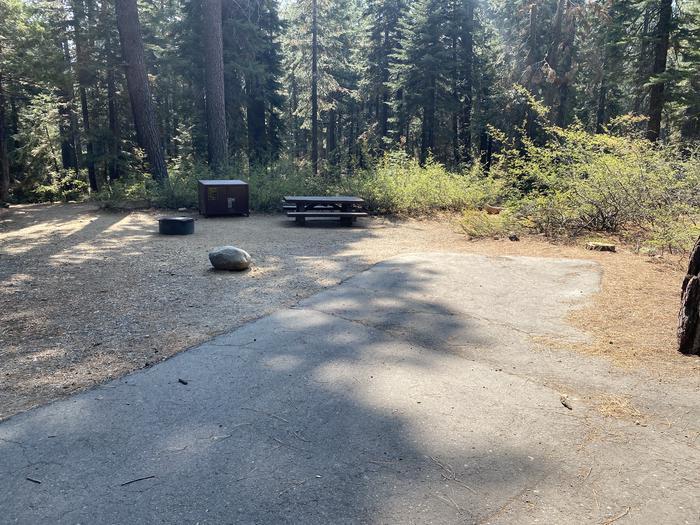 A photo of Site 057 of Loop WILLIAM KENT CAMPGROUND at WILLIAM KENT CAMPGROUND with Picnic Table, Fire Pit, Food Storage