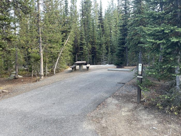 A photo of Site 5 of Loop Anthony Lake at Anthony Lake with Picnic Table, Fire Pit, Tent Pad
