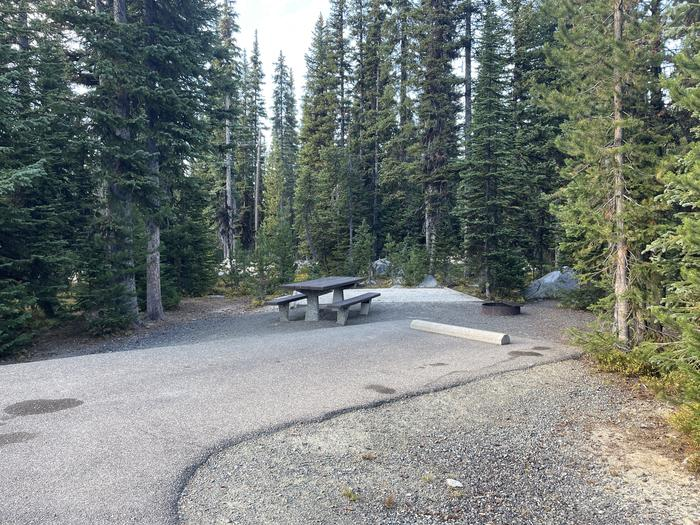 A photo of Site 16 of Loop Anthony Lake at Anthony Lake with Picnic Table, Fire Pit, Tent Pad