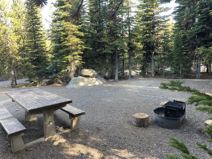 A photo of Site 27 of Loop Anthony Lake at Anthony Lake with Picnic Table, Fire Pit, Tent Pad