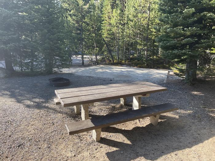 A photo of Site 2 of Loop Anthony Lake at Anthony Lake with Picnic Table, Fire Pit, Tent Pad