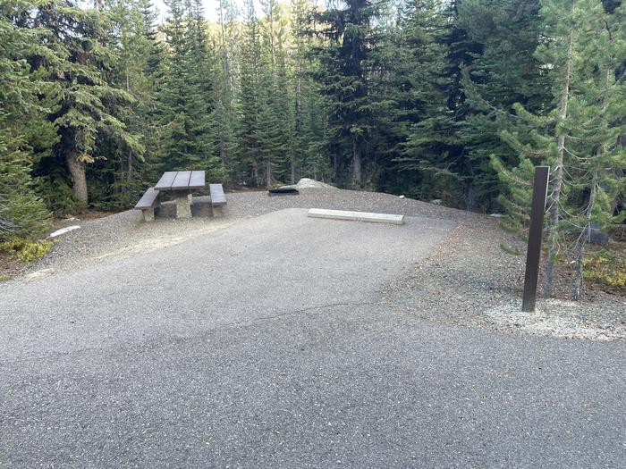 A photo of Site 25 of Loop Anthony Lake at Anthony Lake with Picnic Table, Fire Pit