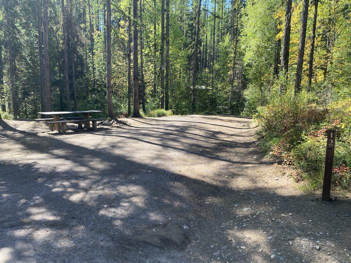 A photo of Site 012 of Loop LID CREEK CAMPGROUND at LID CREEK CAMPGROUND with Picnic Table, Fire Pit
