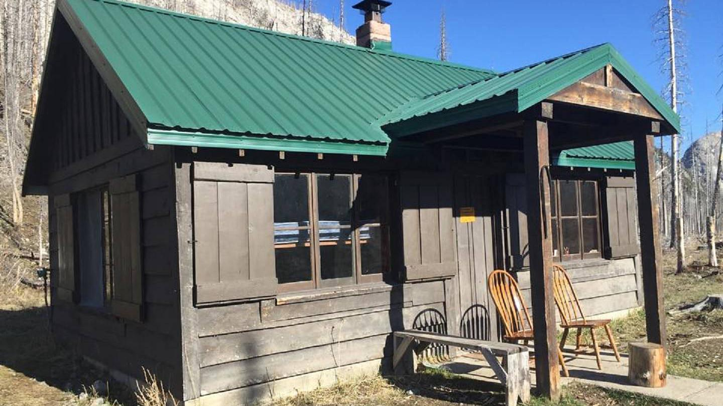 Narrow view of West Fork CabinWest Fork Cabin