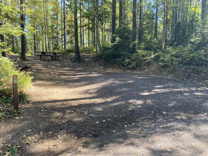 A photo of Site 005 of Loop LID CREEK CAMPGROUND at LID CREEK CAMPGROUND with Picnic Table, Fire Pit