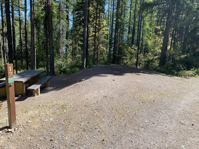 A photo of Site 017 of Loop LID CREEK CAMPGROUND at LID CREEK CAMPGROUND with Picnic Table, Fire Pit