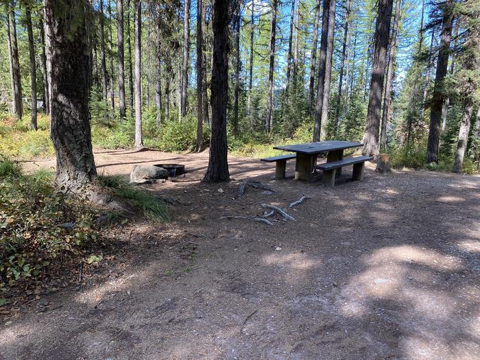 A photo of Site 023 of Loop LID CREEK CAMPGROUND at LID CREEK CAMPGROUND with Picnic Table, Fire Pit