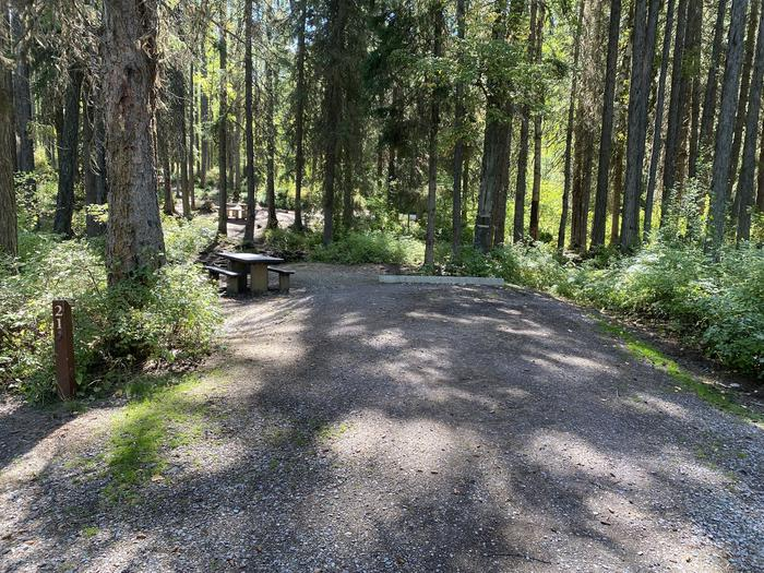 A photo of Site 021 of Loop LID CREEK CAMPGROUND at LID CREEK CAMPGROUND with Picnic Table, Fire Pit