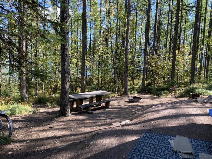 A photo of Site 015 of Loop LID CREEK CAMPGROUND at LID CREEK CAMPGROUND with Picnic Table, Fire Pit