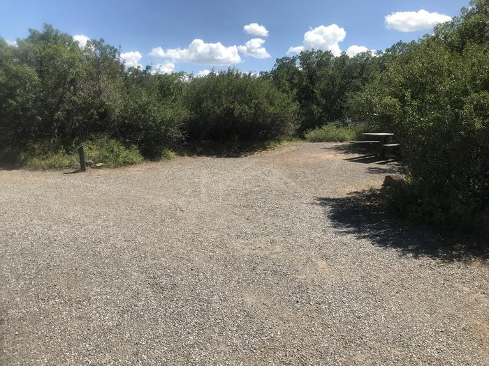 View of parking area for Campsite B-003