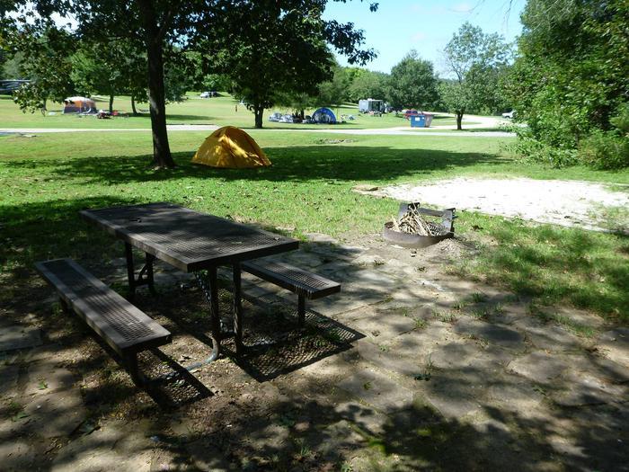Tyler Bend Main Loop Site#10Site#10, 43' back-in, tent pad 15' x 15'.