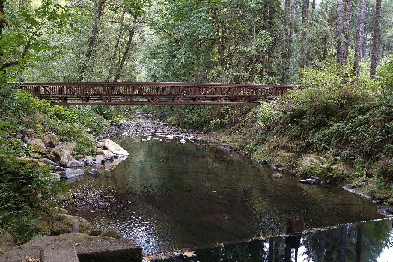 Current Whittaker Campground bridge.Foot bridge at Whittaker Campground.