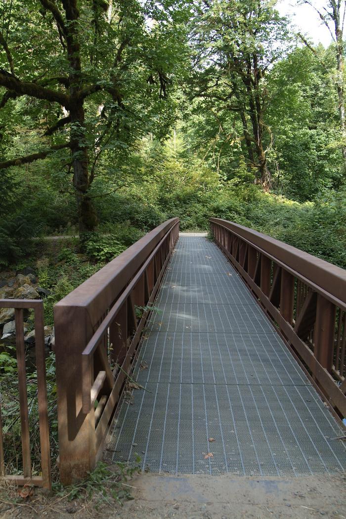 Foot bridge crossing Whittaker Creek.Whittaker Creek foot bridge.