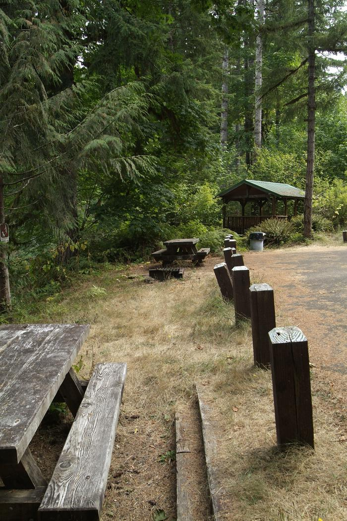 Day Use picnic area and gazebo. Day use area.