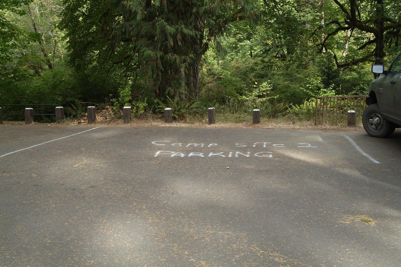 Camp site 2 parking.