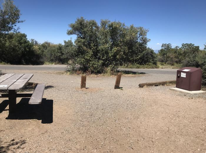 View of pull-through within Campsite A-011