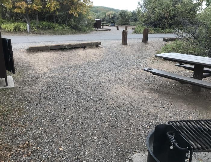 Alternative view of Campsite A-027 looking towards road
