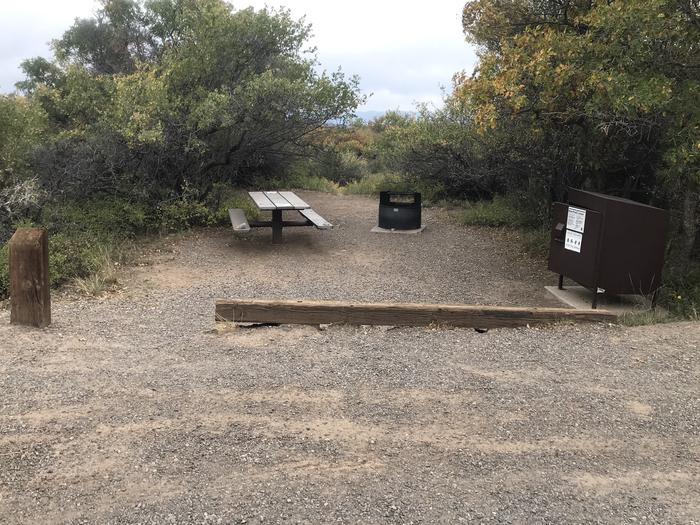 View of Campsite A-027 from parking area