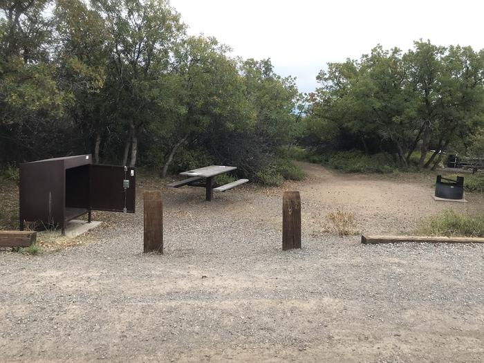 View of Campsite A-029 from parking area