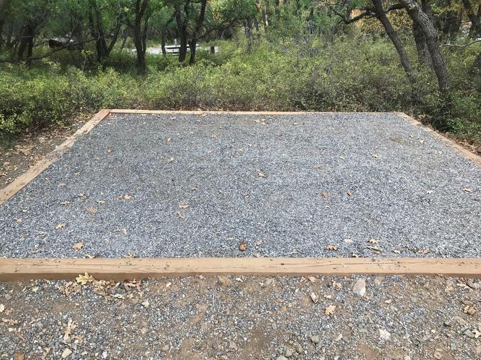 View of tent pad within Campsite B-004