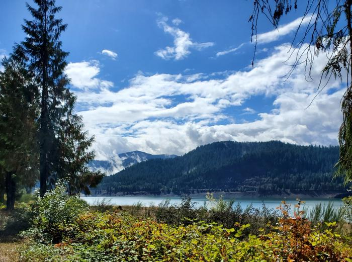 View of lake from Ivan Oakes Campground