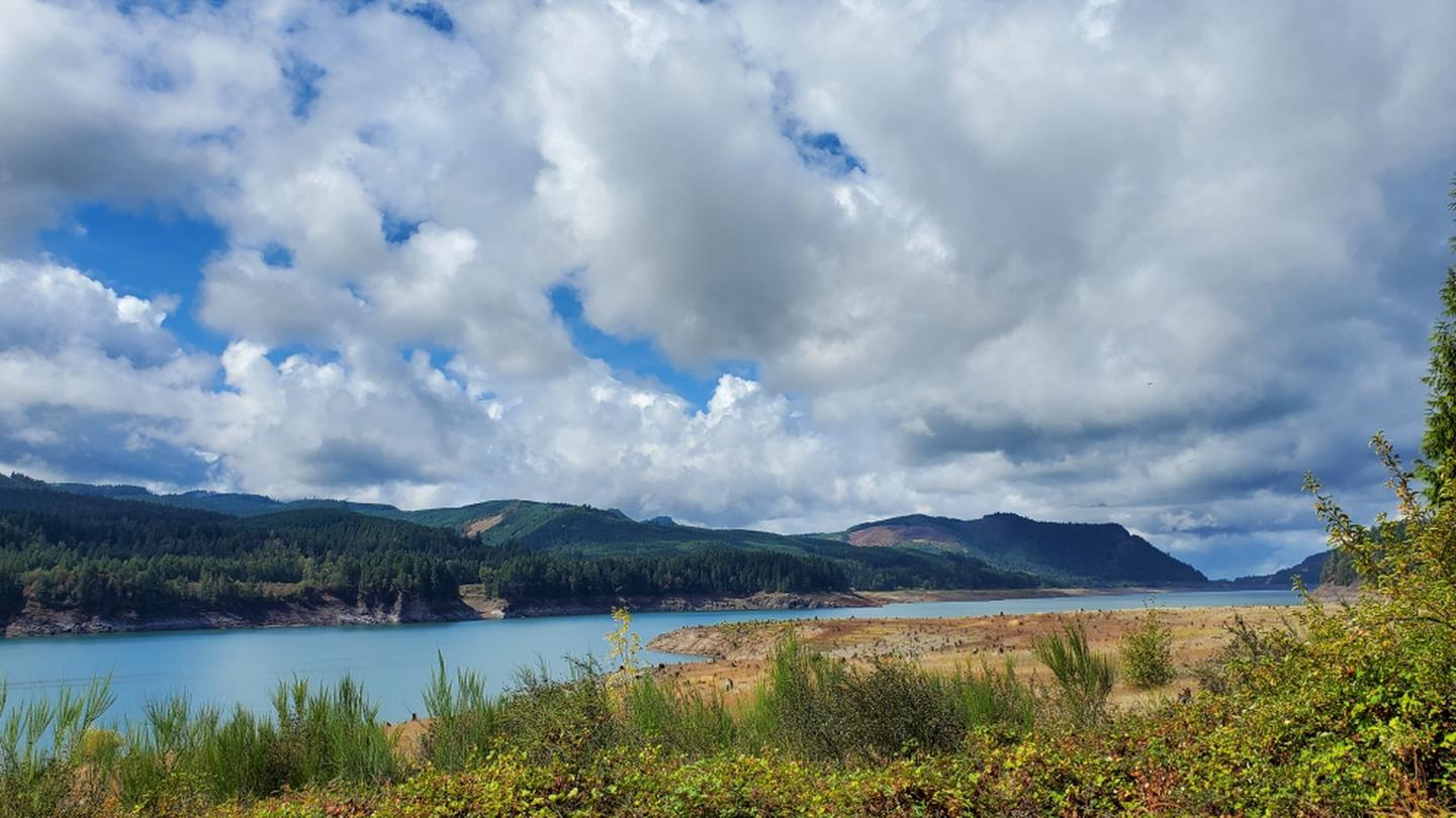 View of Lookout Point Reservoir from Ivan Oakes Campground