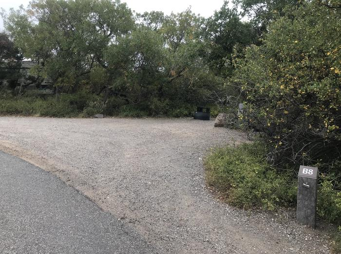 Drive-up view of Campsite B-008