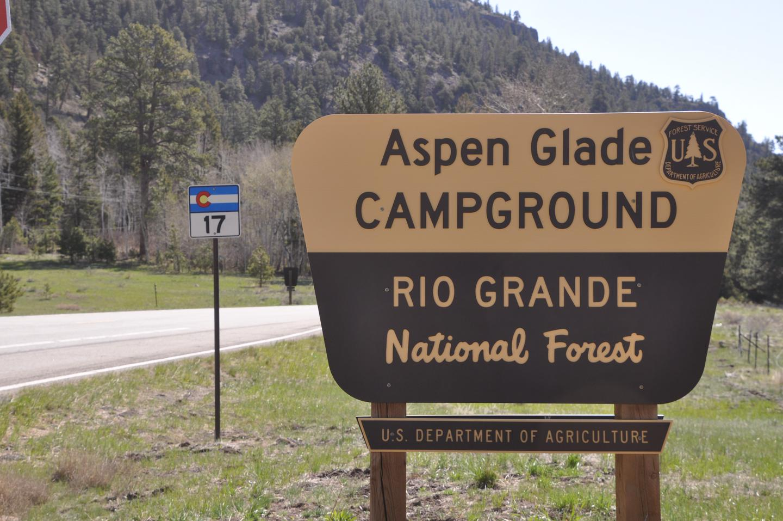 Aspen Glade entry sign