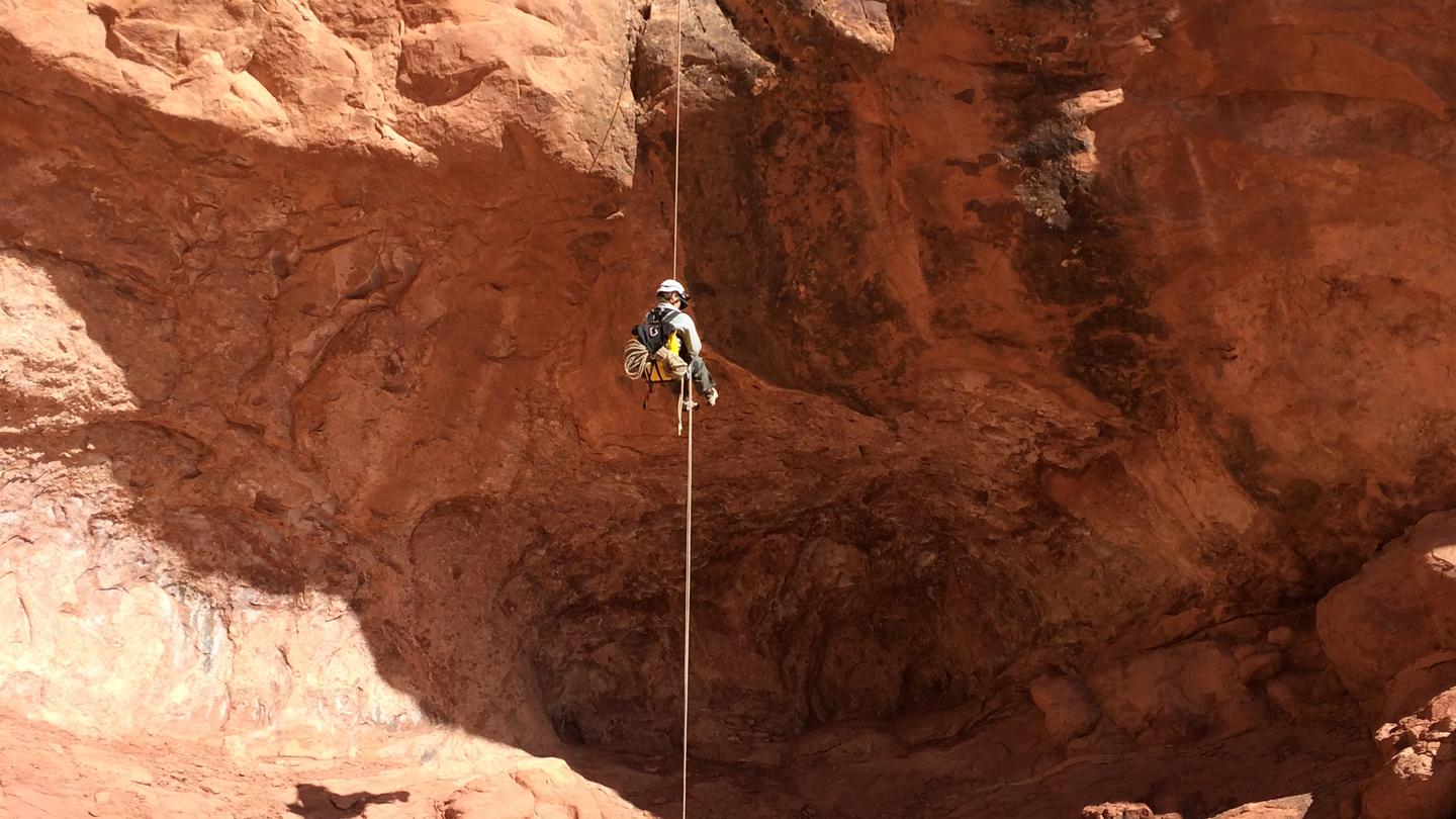 Canyoneering rappelCanyoneering Rappel in Arches National Park