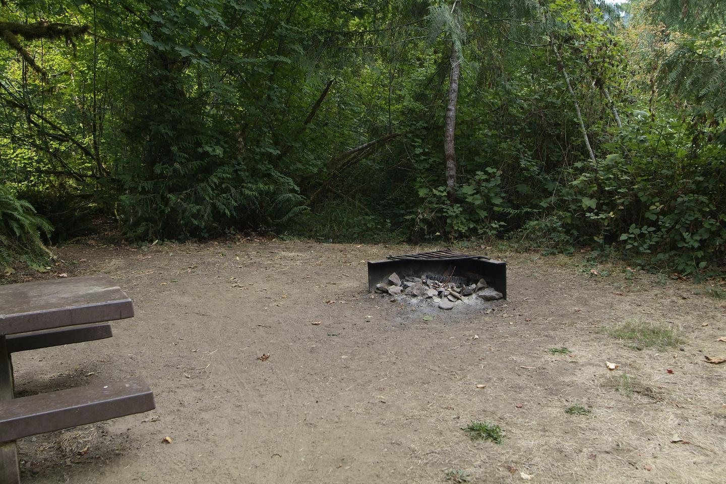 Fire ring for camp site 23. Camp site 23 fire ring.
