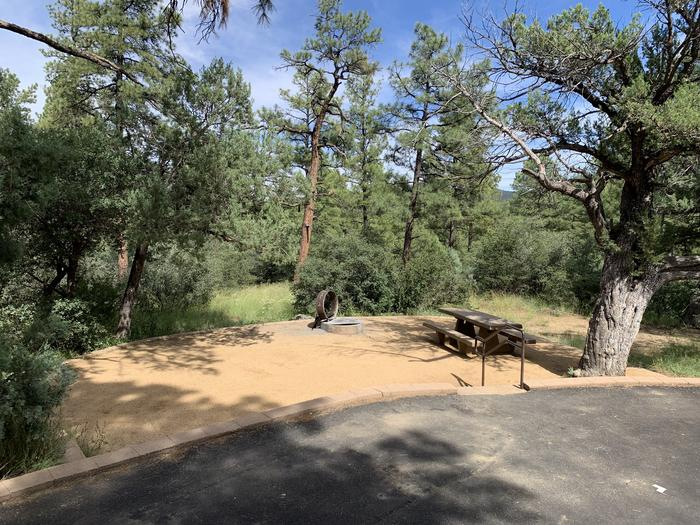 A photo of Site 23 of Loop E at LYNX CAMPGROUND with Picnic Table, Fire Pit