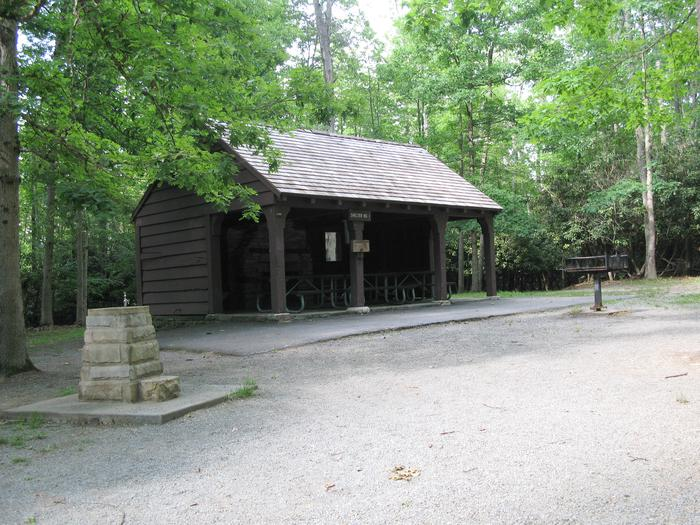 Shelter 1 at GrandviewShelter 1 in the Grandview Area of New River Gorge National Park & Preserve