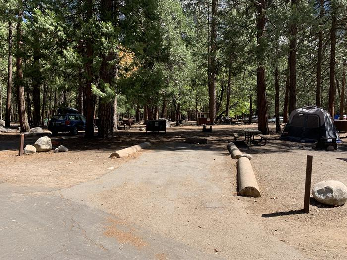A photo of Site 101 of Loop Upper Pines at UPPER PINES with Food Storage