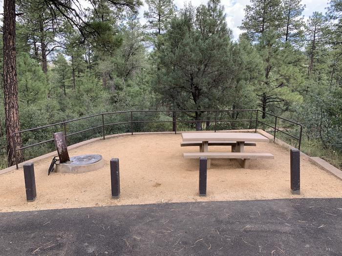 A photo of Site 07 of Loop B at LYNX CAMPGROUND with Picnic Table, Fire Pit with curbside parking.