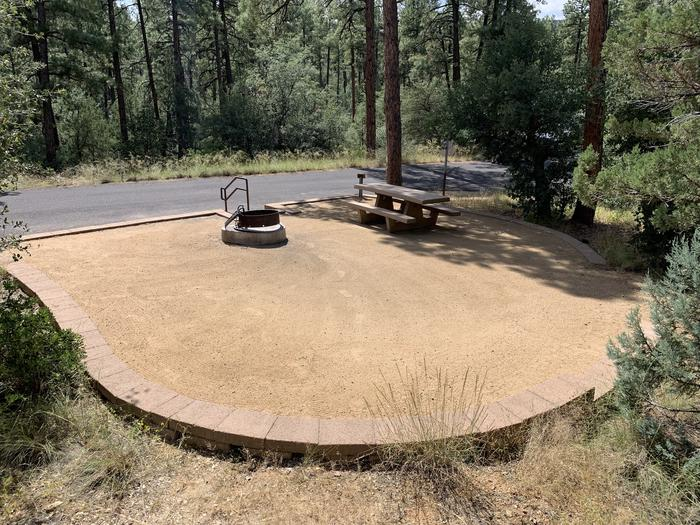 A photo of Site 28 of Loop G at LYNX CAMPGROUND with Picnic Table, Fire Pit