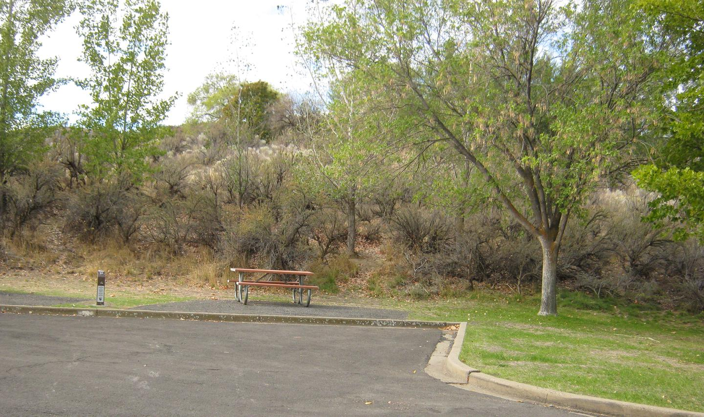 Site 32Back in Paved parking with Sage Brush in the background. Located on outer loop in the top section of the Upper Loop at Spring Canyon.