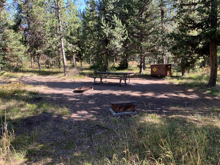 A photo of Site 3 of Loop Main Road at Lizard Creek Campground with Picnic Table, Fire Pit, Shade, Food Storage