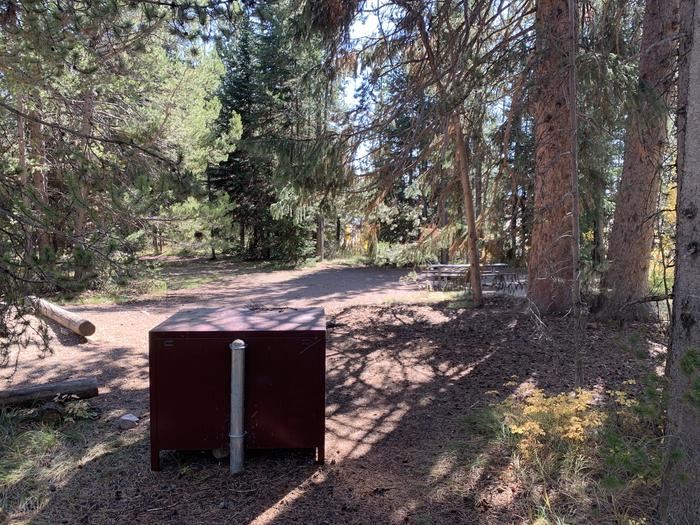 A photo of Site 38 of Loop Loop 2 at Lizard Creek Campground with Picnic Table, Fire Pit, Shade, Food Storage