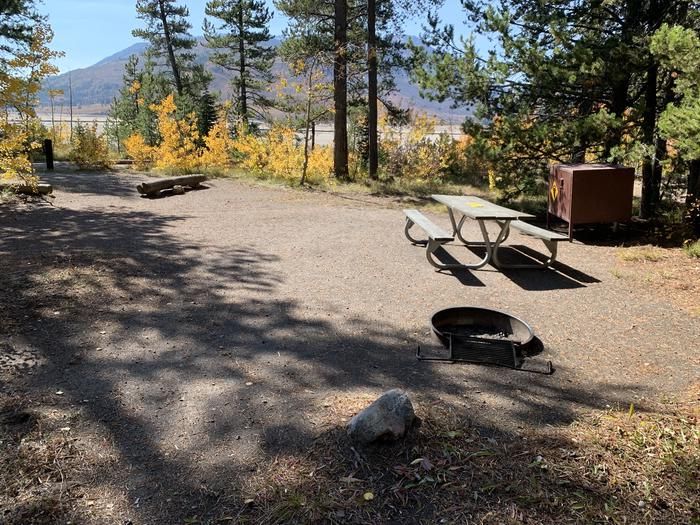 A photo of Site 35 of Loop Loop 2 at Lizard Creek Campground with Picnic Table, Fire Pit, Shade, Food Storage