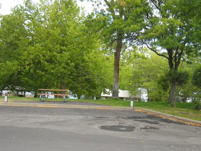 Back in paved parking. **No tents allowed on the watered grass.Site 41. **No tents allowed on the watered grass.