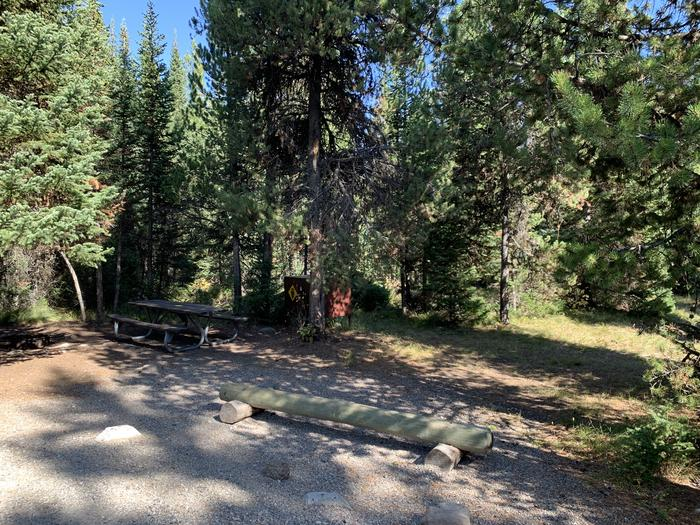 A photo of Site 63 of Loop Loop 1 at Lizard Creek Campground with Picnic Table, Fire Pit, Shade, Food Storage