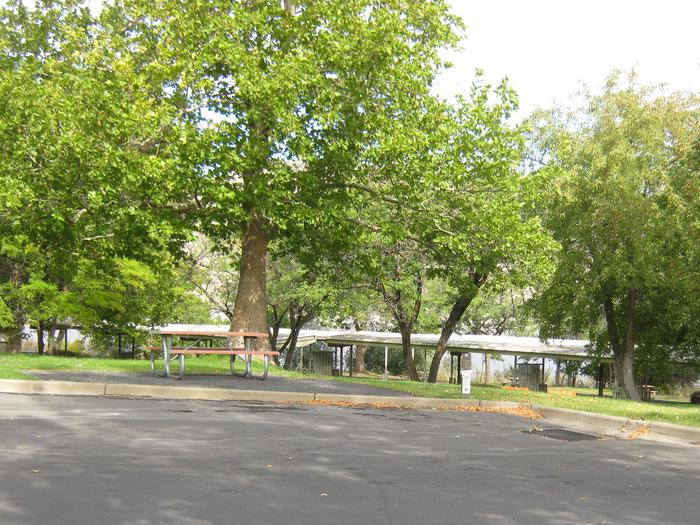 Back in paved parking. **No tents allowed on the watered grass.Site 51. **No tents allowed on the watered grass.