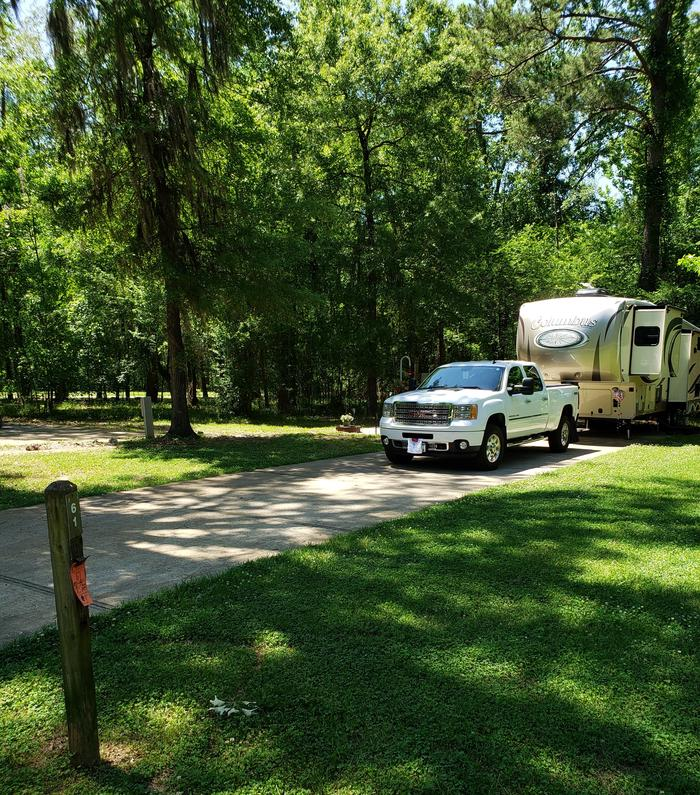 A photo of Site 001 of Loop CATOMA at GUNTER HILL with Picnic Table, Electricity Hookup, Sewer Hookup, Fire Pit, Shade, Full Hookup, Water Hookup