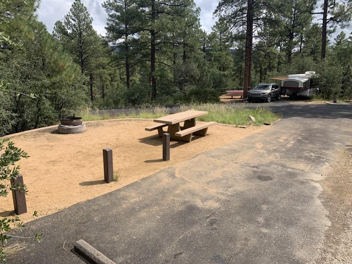 A photo of Site 25 of Loop F at LYNX CAMPGROUND with Picnic Table, Fire Pit. Sure F26 is in the background.