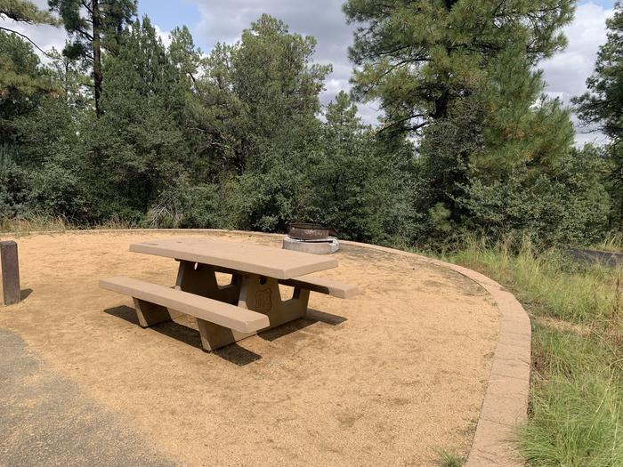 A photo of Site 25 of Loop F at LYNX CAMPGROUND with Picnic Table, Fire Pit