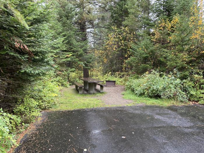 A photo of Site 027 of Loop POND at SWAN LAKE CAMPGROUND with Picnic Table, Fire Pit