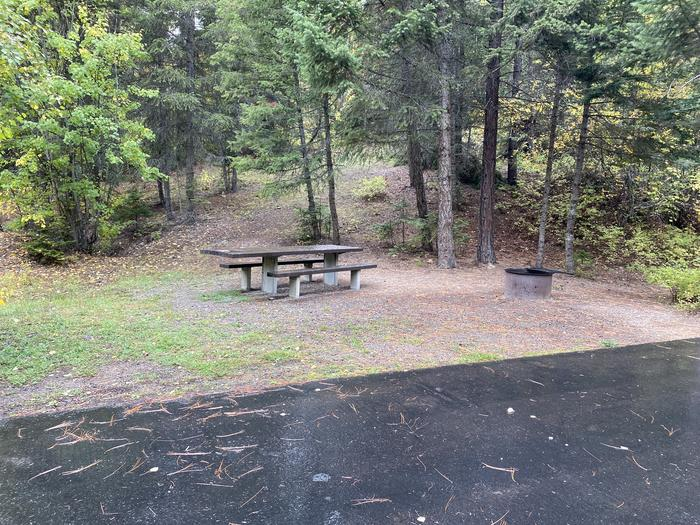 A photo of Site 008 of Loop BIRC at SWAN LAKE CAMPGROUND with Picnic Table, Fire Pit
