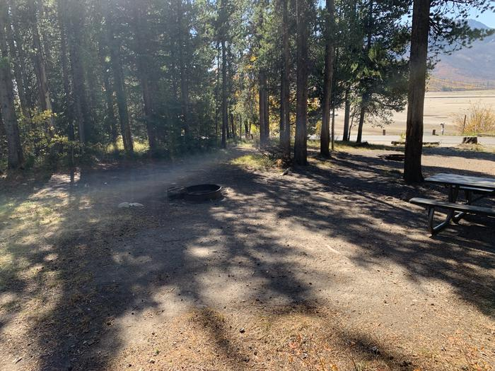A photo of Site 30 of Loop Loop 2 at Lizard Creek Campground with Picnic Table, Fire Pit, Shade, Food Storage